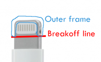 Lightning cable break